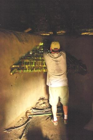 Scott Jones building a chimney in East Africa