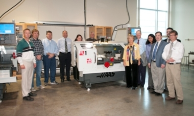 Members of the School of MMe advisory board received a tour of lab equipment upgrades.