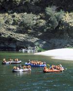 WSU students on a rafting trip