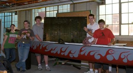 Washington State University's Solar Splash club holding donated solar array