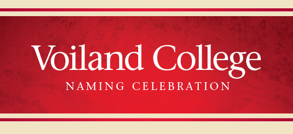 Voiland College Naming Celebration banner