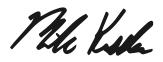 Mike Kessler's signature