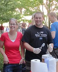 Students enjoying the annual WSU VCEA Ice Cream Social.