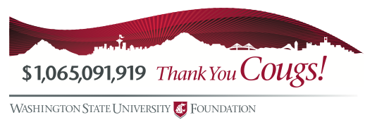$1,065,091,919 Thank you Cougs! banner