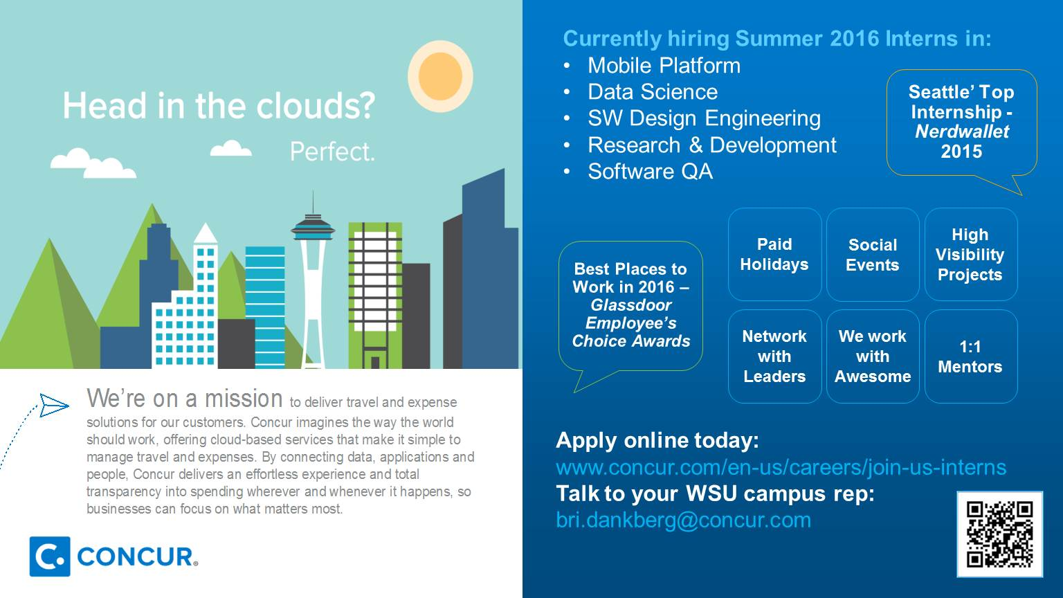 concur information session voiland college of engineering and 2016 summer internships at concur