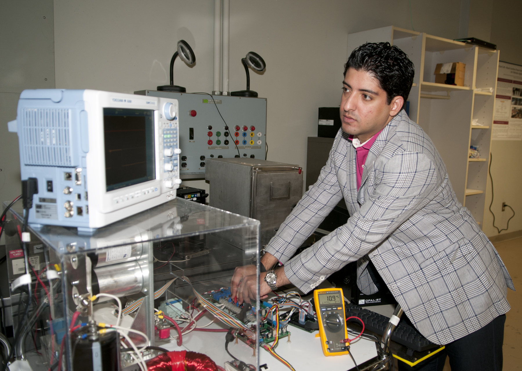 Professor Ali Mehrizi-Sani is studying microgrids to help keep the power on during catastrophic events.
