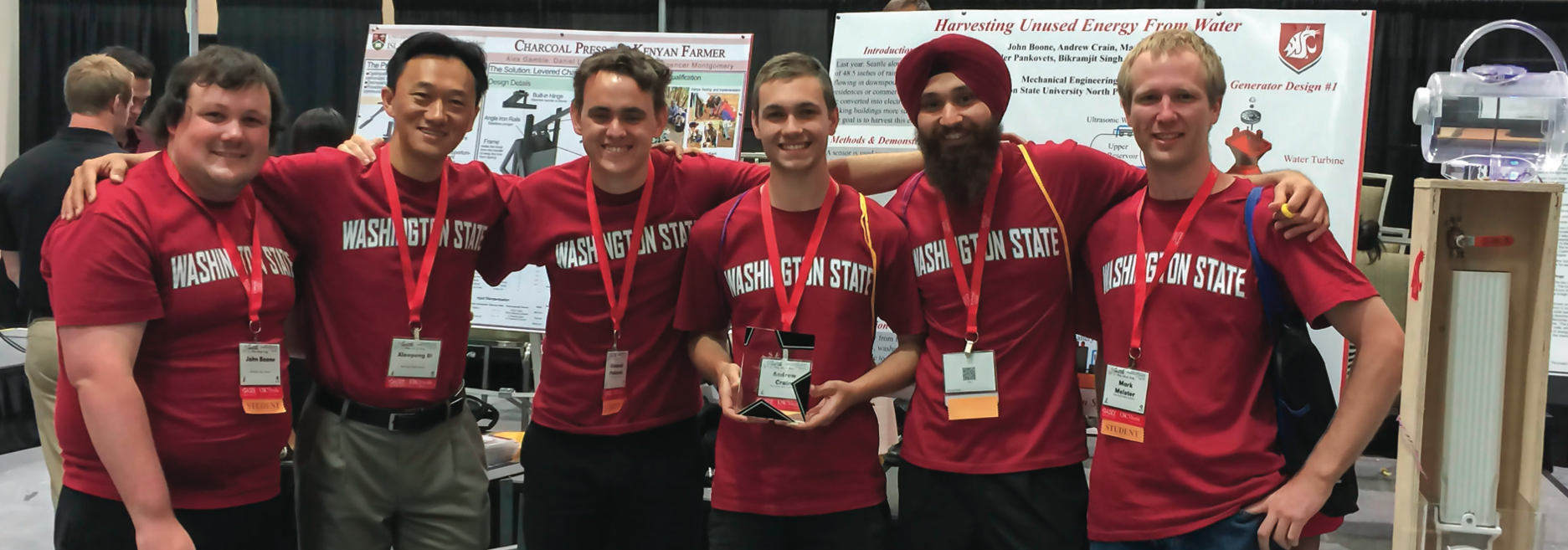 A student team from WSU North Puget Sound at Everett participated in an engineering competition.