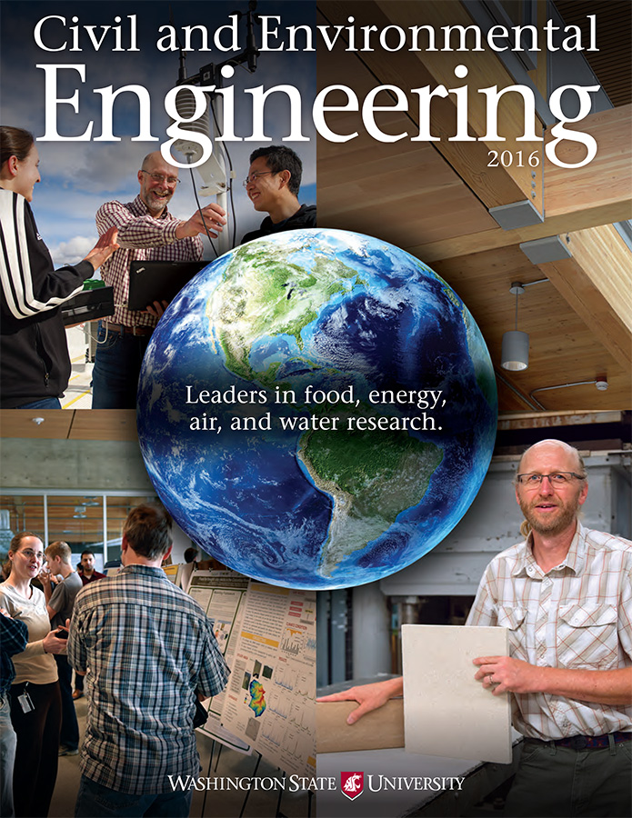 Civil and Environmental Engineering 2016 newsletter cover