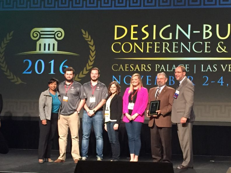 Washington State University construction management and design students at the Design-Build Institute of America's national student competition in Las Vegas.