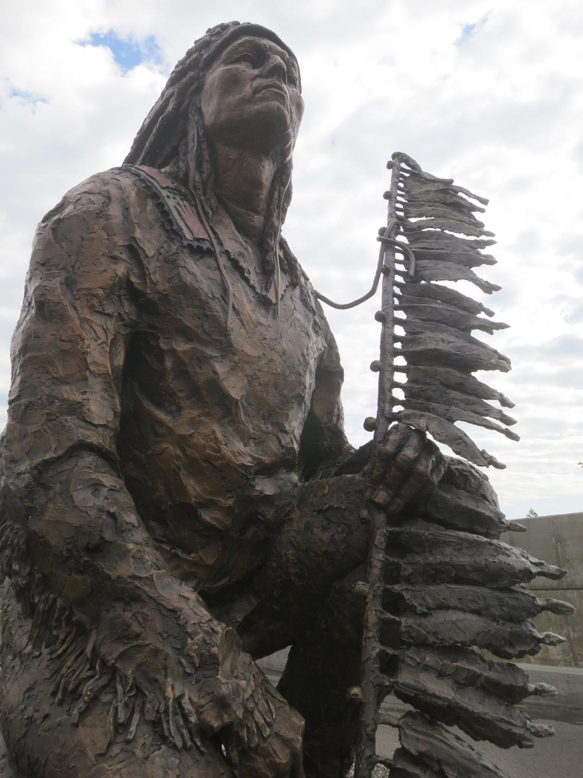 Statue of Chief Morris Antelope