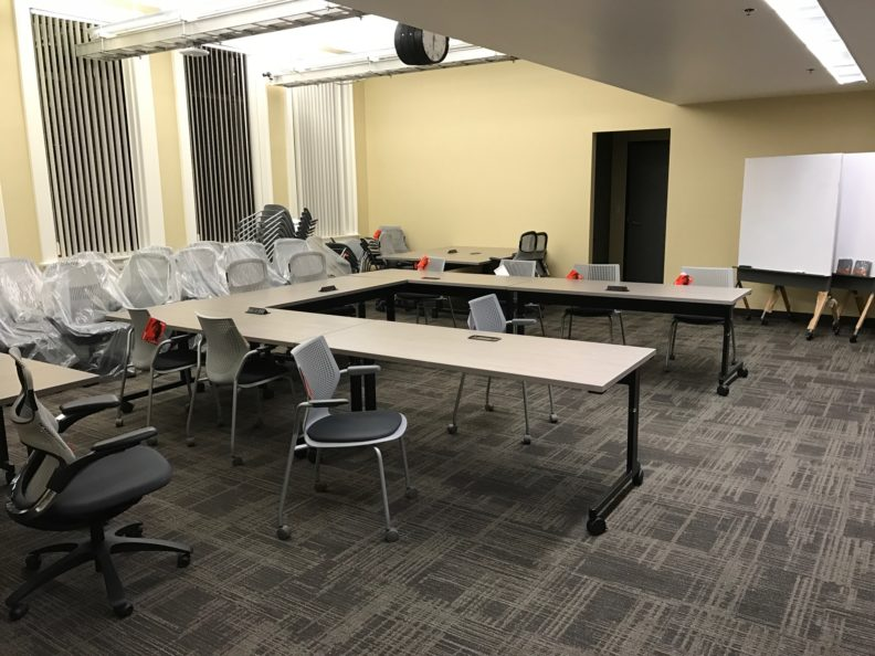 New virtual laboratory. The lab is located on the fourth floor of Carpenter Hall in Pullman.
