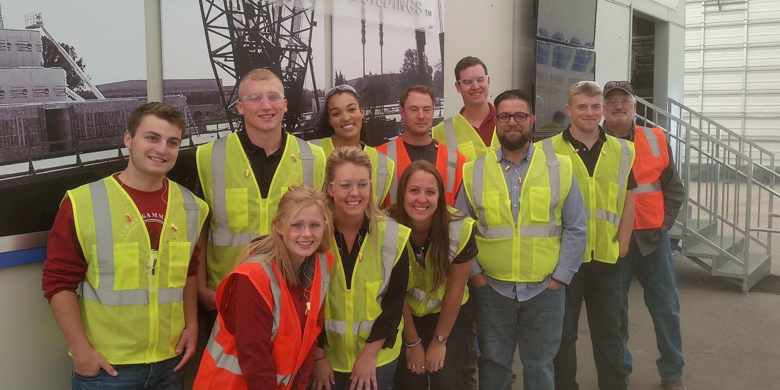 Construction Management and Hospitality and Business Management students tour Guerdon Enterprises