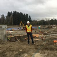Kristoffer Christianson at Tillicum Middle School construction site