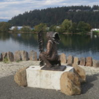 Statue of Chief Morris Antelope at the Coeur d'Alene Tribe Tribute Site