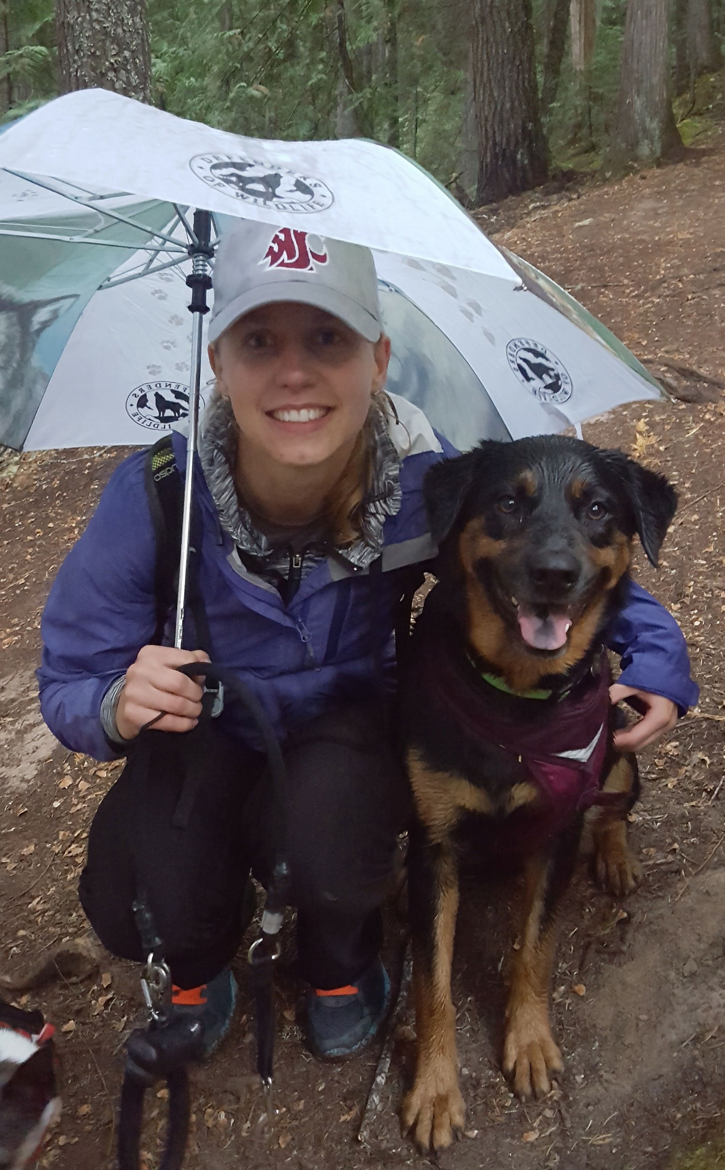 WSU computer science professor Gina Sprint with her dog.