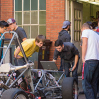 Kory O'Connor working with Wazzu Racing