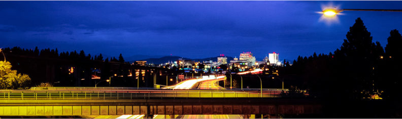 Spokane at night