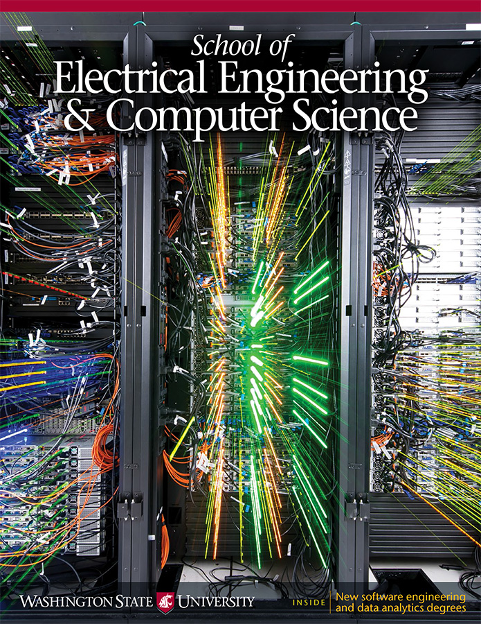 WSU School of Electrical Engineering and Computer Science 2017 newsletter cover