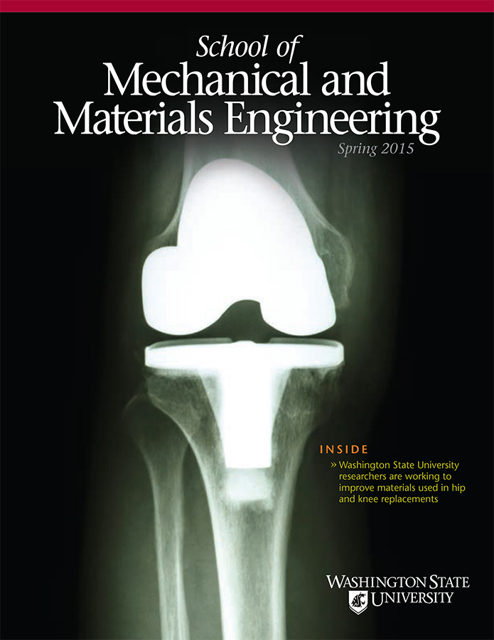 Mechanical and Materials Engineering Spring 2015 newsletter cover