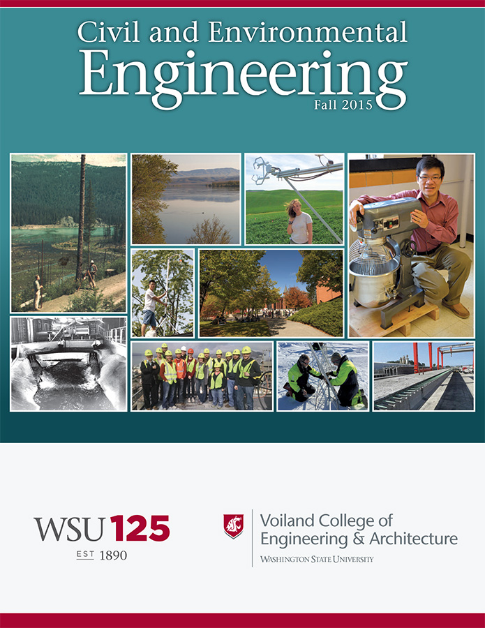 Civil and Environmental Engineering Fall 2015 newsletter cover