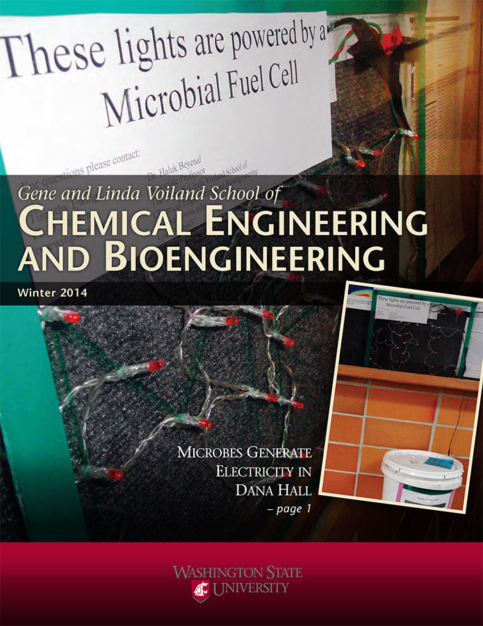 Gene and Linda Voiland School of Chemical Engineering and Bioengineering Winter 2014 newsletter cover