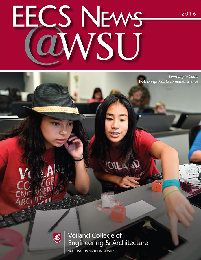 WSU Electrical Engineering and Computer Science 2016 newsletter cover