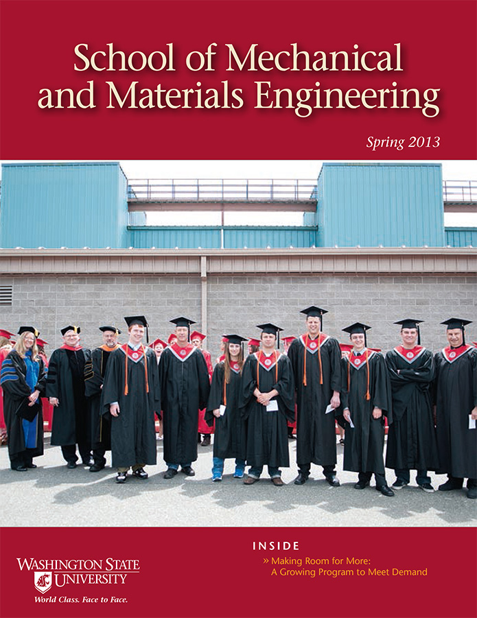 School of Mechanical and Materials Engineering Spring 2013 newsletter cover