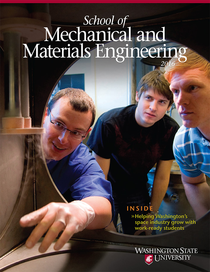 WSU School of Mechanical and Materials Engineering 2016 newsletter cover