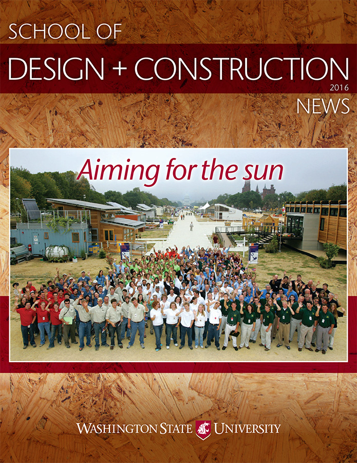 School of Design + Construction 2016 newsletter cover