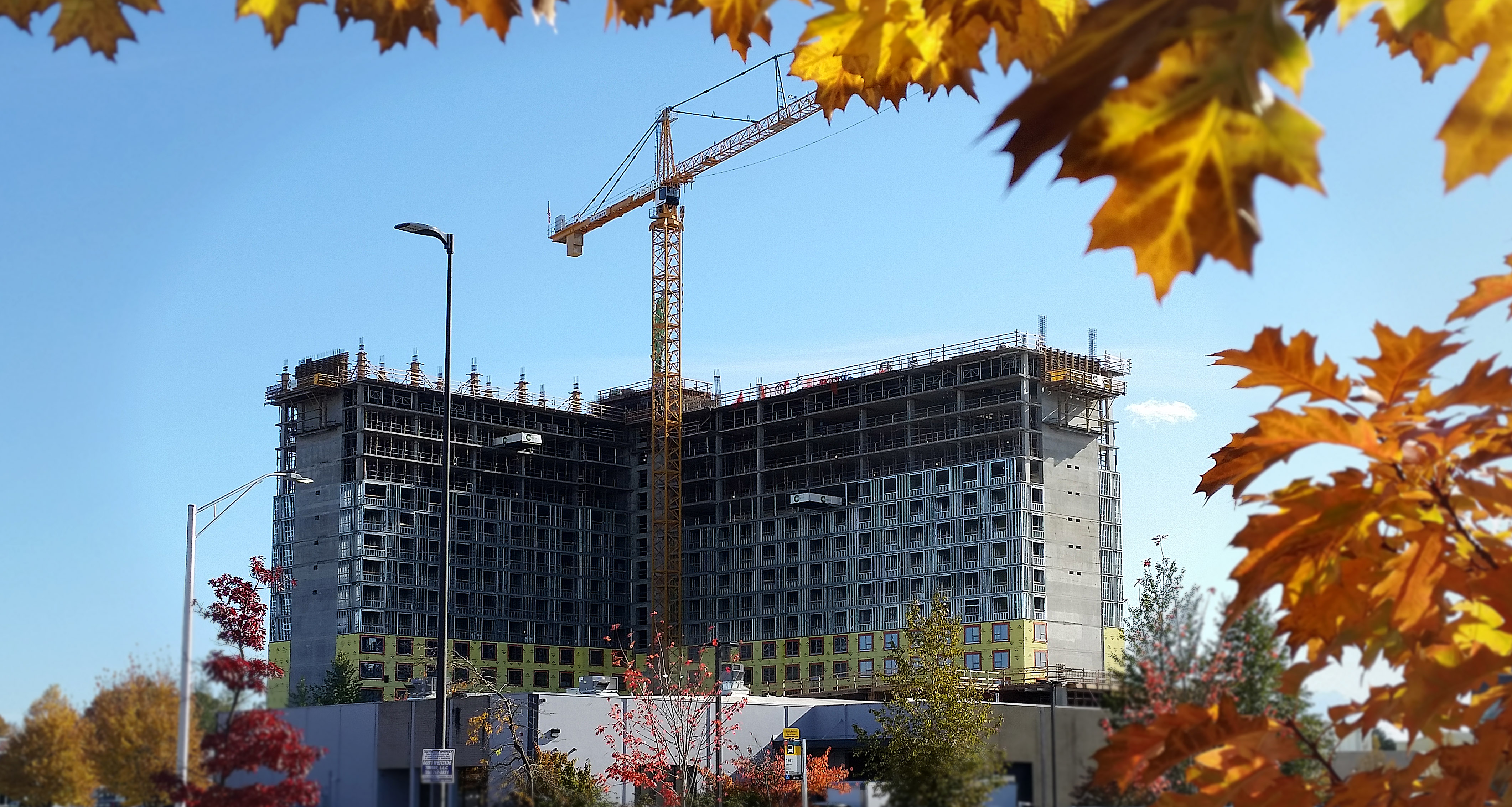 Washington Place during construction in Tukwila, WA
