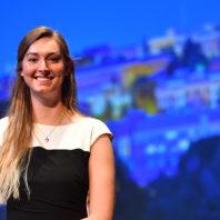 WSU Civil Engineering student Alyssa Norris at Convocation, Spring 2017