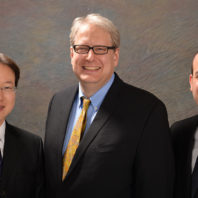 Left to right: Dae Hyun Kim, Jean-Sabin McEwen, and Steven R. Saunders