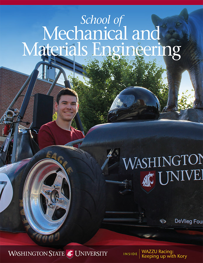 WSU School of Mechanical and Materials Engineering 2017 newsletter cover