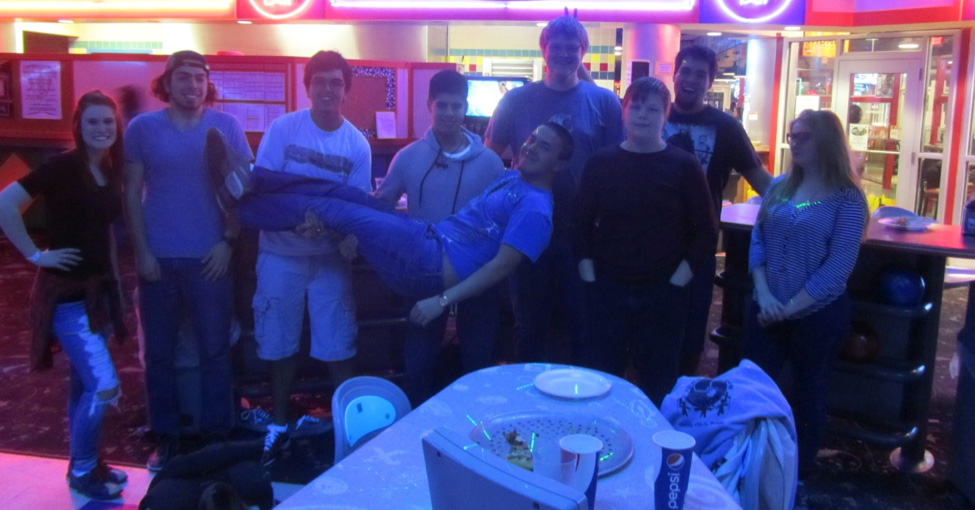 WSU STARS students at Cosmic Bowling.