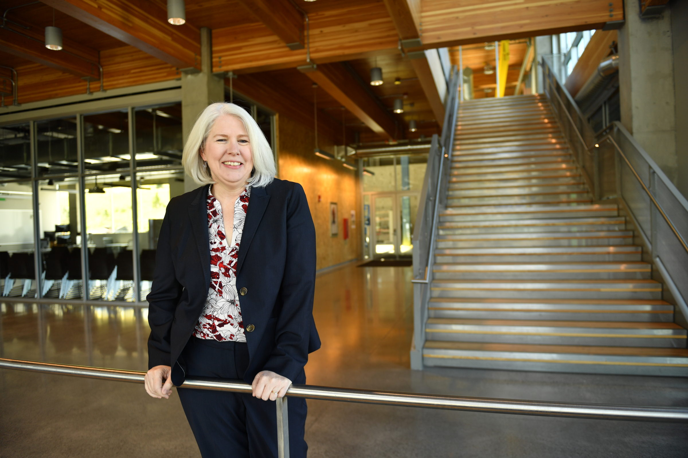 Dean Rezac standing in the lobby of the PACCAR Environmental Technology Building.