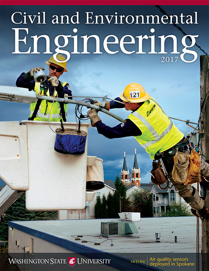 WSU Department of Civil and Environmental Engineering 2017 newsletter cover