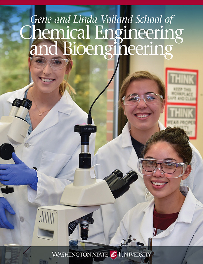WSU Gene and Linda Voiland School of Chemical Engineering and Bioengineering 2017 newsletter cover