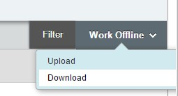 Screenshot: Work Offline, Download chosen