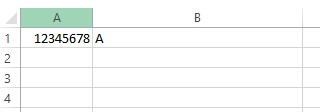 Screenshot: No header row in table