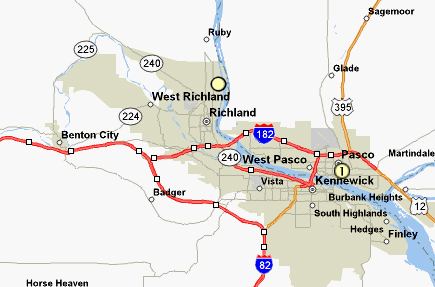 TriCities Map - Franklin County