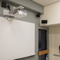 projector, whiteboard