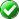 white check mark on green circle.