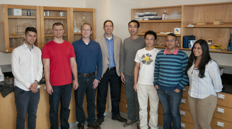 Research group in the lab, Spring 2015.