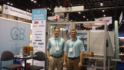 Professor Mike Kessler and graduate student Mitch Rock at NPE