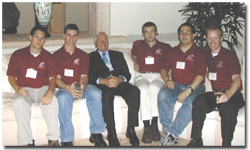 Harold Frank (center) with Harold Frank Entrepreneurship Institute Fellows
