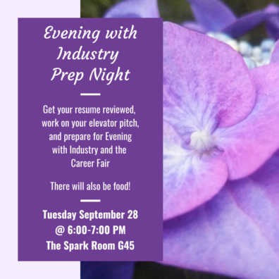 Evening with Industry Prep Night Poster.