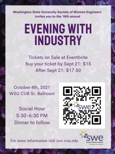 Evening with Industry Poster.