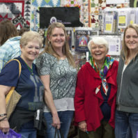 four happy Sew Expo attendees