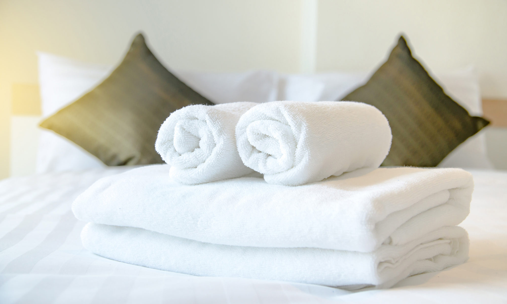 Towels in hotel room