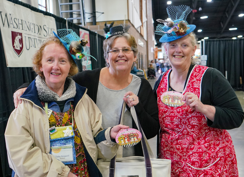 Three CTAs take a break during the 2020 Sewing and Stitchery Expo.